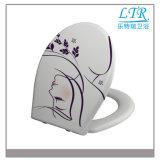 Harnstoff dekorativer Hyginene schnelle Freigabe-Toiletten-Sitzdeckel