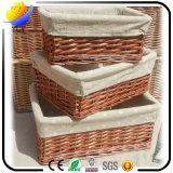 Cadre de mémoire en osier de paniers de blanchisserie de fourniture à la maison