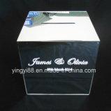 Персонализированное квадратное акриловое венчание зеркала желая хорошую коробку