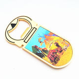 Консервооткрыватель бутылки магнита холодильника логоса цвета подарков промотирования золотистый (F5029)