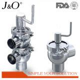 Válvula de inversão manual sanitária de aço de Staninless