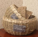 (BC-SF1012) Eco-Friendly Handmade естественная корзина цветка сторновки