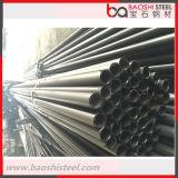 Tubulação de aço preta, em branco, brilhante, galvanizada