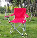 Im Freien faltender Strand-Stuhl, roter Freizeit-Stuhlportable-Stuhl
