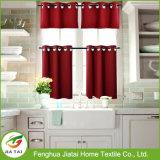 Cortinas para janelas cortinas de cozinha vermelhas modernas e valências