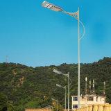 luz de rua solar Integrated do diodo emissor de luz PIR da C.C. 12V para luzes públicas da lâmpada quadrada com Pólo