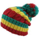 Chapéu feito malha listrado simples barato (JRK120)