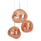 lâmpada acrílica do pendente da forma da pedra da forma da venda quente a mais nova do projeto 2017dlss