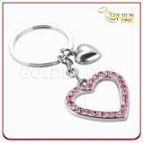 Fashion Design Two -Tone Terminé Tire Shape Metal Keyring