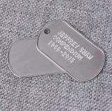 Colar bonito do pendente do espaço em branco do Tag de cão do aço inoxidável para o animal de estimação