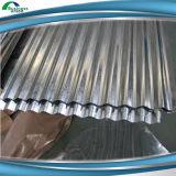 Colorear la hoja de acero acanalada cinc revestido del material para techos del metal de la azotea Sheet/Gi