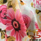 100%년 폴리에스테 시퐁 직물 합성 시퐁 꽃은 여자 복장을%s 직물을 인쇄했다