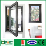 Casement de alumínio Windows do perfil com vidro Tempered