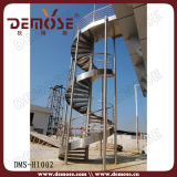 Escalier spiralé extérieur d'acier inoxydable (DMS-H1002)