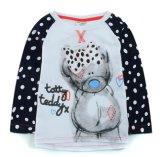 Mädchen-Baby-Strickjacken in der Kind-Kleidung auf langem Hülsen-T-Shirt Sq-17102