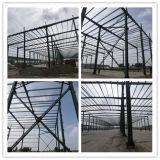 Edifícios Prefab de aço da estrutura da luz do uso de Alfrica pintados