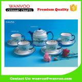 insieme di caffè di ceramica del tè 4PCS della tazza e del piattino