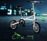 Bici plegable ligera una bicicleta plegable del segundo