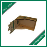 Caja de presentación de Brown al por mayor de papel corrugado