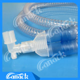 Câmara de ar de respiração Smoothbore descartável do oxigênio do circuito