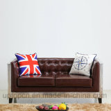 Mobilia speciale del sofà del salone di disegno con la struttura del metallo e la tappezzeria di cuoio dell'unità di elaborazione (SP-KS338)