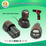(QSD-10.8) Herramientas eléctricas 10.8V 1.5Ah Lithium-Ion Battery Pack