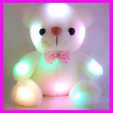Bunter LED-leuchtender Stern-Teddybär angefülltes Spielzeug-weiches Kissen