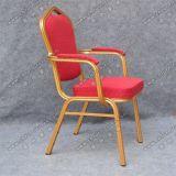 レストランアーム椅子Yc-D102-4をスタックする現代金属