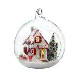 2017 Dollhouse de madeira bonito Handmade do brinquedo DIY com os presentes românticos da esfera de vidro para a amiga Mini-Mechrismas