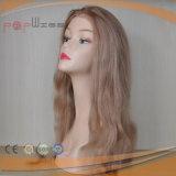 Парик женщин PU золотистого полного шнурка человеческих волос задний горячий продавая