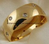 18k金のマットの高品質のチタニウムのリングの宝石類(TR1828)