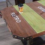 Projeto de madeira da tabela de chá para a tomada de fábrica da mobília
