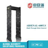 Porta do detetor de metais com 24 funções de controle remoto móveis das zonas
