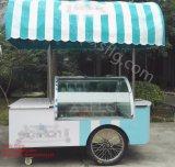 Итальянские тележки Gelato/вагонетки мороженного/замораживатели велосипеда витрины мороженного глубоко - (CE)