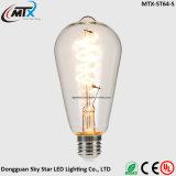 Bombilla del filamento de la jaula de ardilla de la iluminación 2200K 4W de la decoración LED