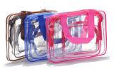透過PVC移動の装飾的な洗面用品袋(MS9059)