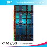 P8 contrasto del grande LED video schermo impermeabile della parete della pressofusione l'alto, grande angolo di visione