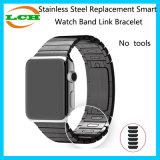 Ninguna pulsera elegante de la conexión de la venda de reloj del reemplazo del acero inoxidable de las herramientas para el reloj de Apple