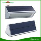 Solarwand beleuchtet im Freien Mikrowellen-Radar-Fühler-wasserdichte energiesparende Lampen-Lampen der Aluminiumlegierung-48 LED für Garten