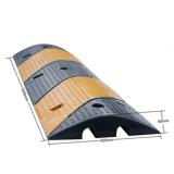 Cubierta dual del foso del cable del suelo del caucho y del plástico