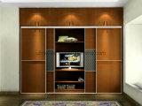 Guardaroba di legno della mobilia della camera da letto di disegno moderno 2017 con due colori (UL-WR055)