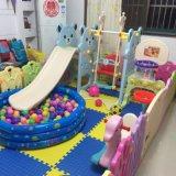 2017의 Pink Indoor Playground Plastic 곰 공주 활주 장난감 (HBS17009B)