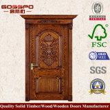 Única porta de cinzeladura de madeira contínua Home (GSP2-007)