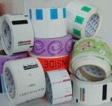 Etiqueta engomada adhesiva de los cosméticos, escritura de la etiqueta rodada de papel, etiqueta engomada del color de la impresión