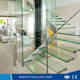 Decorativo curvado do indicador colorido de vidro/endureceu o vidro modelado gravado ácido