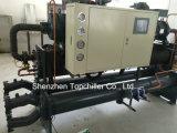 refrigerador de refrigeração do parafuso da água refrigerando do molde 288000BTU/H em linhas da extrusora