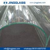 Porta de vidro vidro dobrado curvado para a parede interior