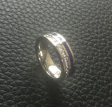 Shineme SchmucksachenZircon und Kleber-blauer populärer Ring