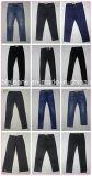 pantalones vaqueros delgados azul marino de las señoras 9.1oz (HY2571-02T)