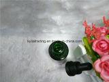 30ml黒い点滴器(EOB-12)が付いている緑の精油のびん